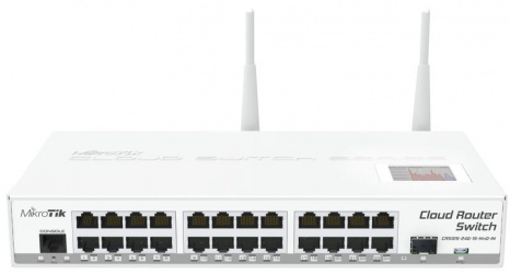 Switch MikroTik Gigabit Ethernet Cloud Router, 24 Puertos 10/100/1000Mbps - Gestionado
