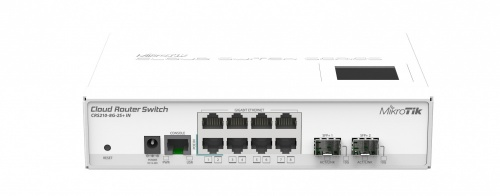 Switch MikroTik Gigabit Ethernet Cloud Router, 8 Puertos 10/100/1000Mbps + 2 Puertos SFP+ - Gestionado