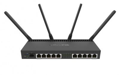 Router Mikrotik RB4011iGS+5HacQ2HnD-IN, Inalámbrico, 1733 Mbit/s, 2.4/5GHz, con 4 Antenas de 3dBi