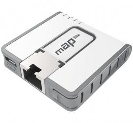 Access Point MikroTik mAP Lite, 100 Mbit/s, 1x RJ-45, 2.4GHz