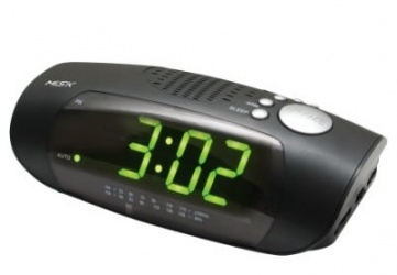 Misik Radio Despertador MR433, AM/FM, Negro