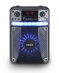 Misik Bafle MB106, Bluetooth, Inalámbrico, 2500W PMPO, Negro