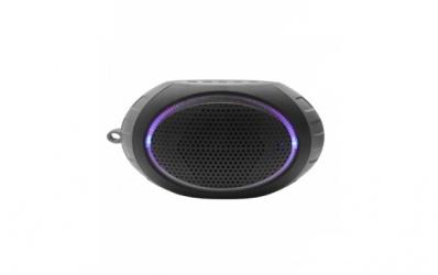 Misik Bocina Portátil MS211, Bluetooth, Inalámbrico, USB, Gris - Resistente al Agua