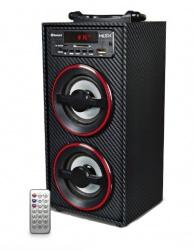 Misik Bocina Portátil MS212, Bluetooth, Inalámbrico, USB, Negro