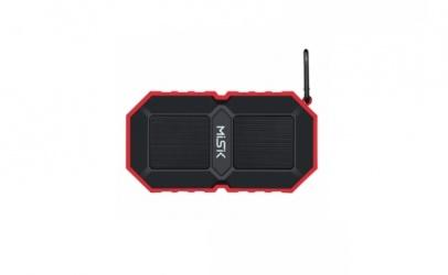 Misik Bocina Portátil MS230, Bluetooth, Alámbrico/Inalámbrico, USB, Rojo - Resistente al Agua