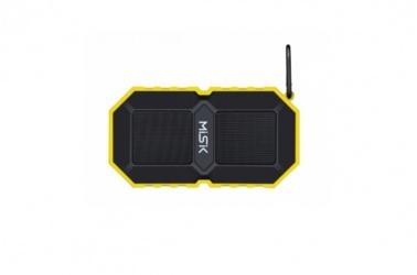 Misik Bocina Portátil MS230, Bluetooth, Alámbrico/Inalámbrico, USB, Amarillo - Resistente al Agua