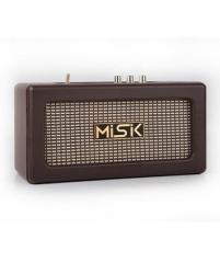 Misik Bocina Portátil MS232, Bluetooth, Inalámbrico, USB, Marrón