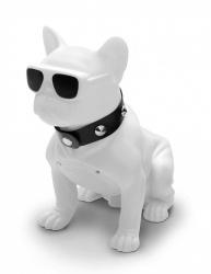 Misik Bocina Portátil MS290, Bluetooth, Inalámbrico, USB, Bulldog Blanco