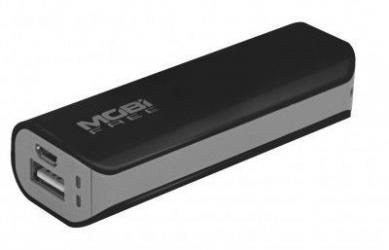 Cargador Portátil Mobifree Power Bank MB-01002, 2200mAh, Negro/Gris