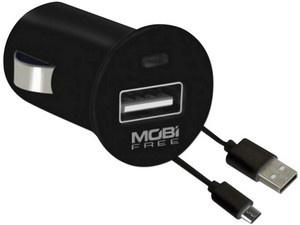 Mobifree Cargador para Auto con Cable USB 2.0 MB-01066, USB, Negro