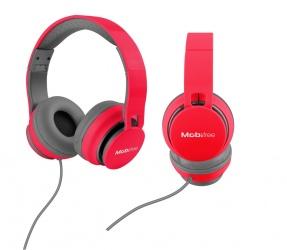 Mobifree Audífonos con Micrófono Urban Kaos, Alámbrico, 1.2 Metros, 3.5mm, Rojo