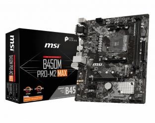 Tarjeta Madre MSI Micro ATX B450M PRO-M2 MAX, S-AM4, AMD B450, HDMI, 32GB DDR4 para AMD