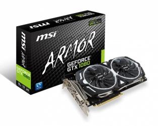 Tarjeta de Video MSI NVIDIA GeForce GTX 1080 ARMOR, 8GB 256-bit GDDR5, PCI Express x16 3.0