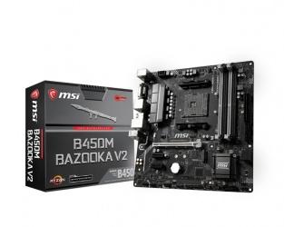 Tarjeta Madre MSI ATX B450M Bazooka V2, S-AM4, AMD B450, HDMI, 64GB DDR4 para AMD