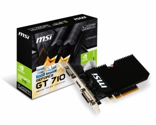 Tarjeta de Video MSI NVIDIA GeForce GT 710, 1GB 64-bit GDDR3, PCI Express x8 2.0