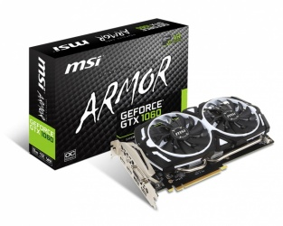 Tarjeta de Video MSI NVIDIA GeForce GTX 1060 ARMOR OCV1, 3GB 192-bit GDDR5, PCI Express x16 3.0