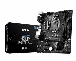 Tarjeta Madre MSI Micro ATX H310M PRO-VDH PLUS, S-1151, Intel H310, HDMI, 32GB DDR4 para Intel ― Compatibles solo con 8va y/o  9va Generación (Revisar modelos aplicables)