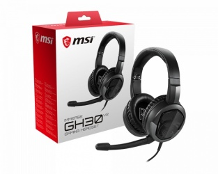MSI Audífonos Gamer con Micrófono Immerse GH30 V2 para PS4/Xbox/Nintendo/PC, Alámbrico, 1.5 Metros, 3.5mm, Negro