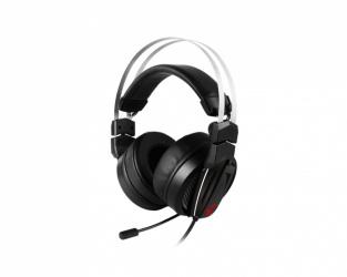 MSI Audífonos Gamer Immerse GH60, Alámbrico, 2 Metros, 3.5mm, Negro/Rojo
