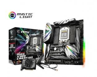 Tarjeta Madre MSI ATX-E MEG X399 CREATION, S-TR4, AMD X399, 128GB DDR4-SDRAM para AMD