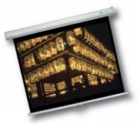 Multimedia Screens Pantalla de Proyección Manual MSC-213, 84'', Blanco