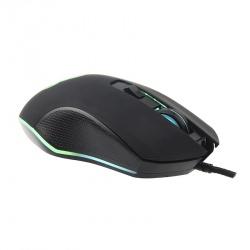 Mouse Gamer Naceb Óptico Spartan, Alámbrico, USB, 2400DPI, Negro