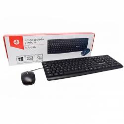 Kit Gamer de Teclado y Mouse Naceb NA-112, Alámbrico, USB, Negro (Español)