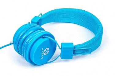 Naceb Audífonos Plegables con Micrófono NA-402AZLI, Alámbrico, 3.5mm, Azul Cielo