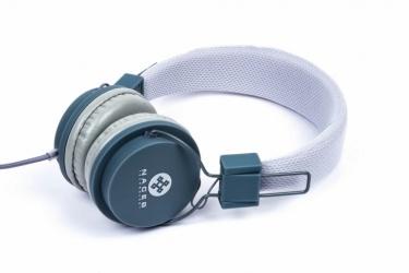 Naceb Audífonos Plegables con Micrófono NA-402GR, Alámbrico, 3.5mm, Gris