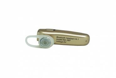 Naceb Manos Libres NA-597, Bluetooth, Inalámbrico, Oro
