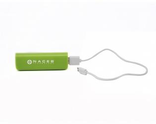 Cargador Portátil Naceb NA-605, 2200mAh, Verde