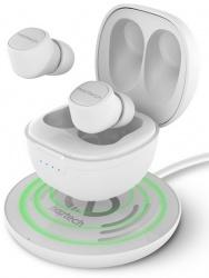 Naztech Audífonos Intrauriculares Deportivos con Micrófono Freedom+, Inalámbrico, Bluetooth, Blanco
