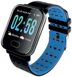 Necnon Smartwatch K-3T, Touch, Bluetooth 4.0, Negro/Azul