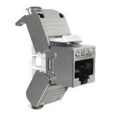 Nexxt Solutions Jack Categoría 6a, para Terminación sin Herramienta, Tipo 110, RJ-45, Plata