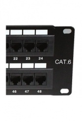 Nexxt Solutions Panel de Parcheo para Rack de 19'', Cat6, 24x RJ-45