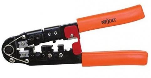 Nexxt Solutions Pinza Básica para Plug RJ-45, Negro/Naranja