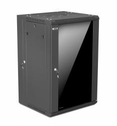 Nexxt Solutions Gabinete de Pared 18U, hasta 60kg, Negro