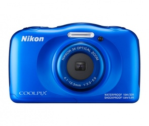 Cámara Digital Nikon COOLPIX W100, 13.2MP, Zoom óptico 3x, Azul