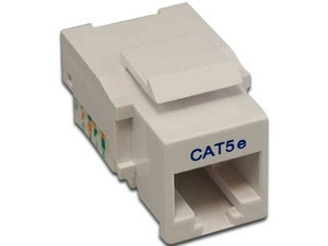 Nitrotel Jack de Red Cat5e RJ-45, Blanco