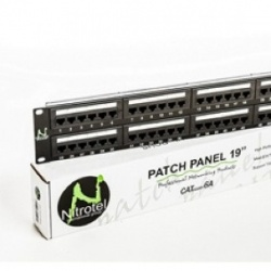 Nitrotel Panel de Parcheo Cat5e 24 Puertos, Negro