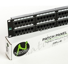 Nitrotel Panel de Parcheo Cat5e de 48 Puertos, 19''