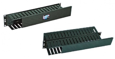 North System Organizador de Cables Horizontal, 2U, 19'', Negro