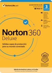 Norton 360 Deluxe/Total Security, 3 Usuarios, 1 Año, Windows/Mac ― Producto Digital Descargable