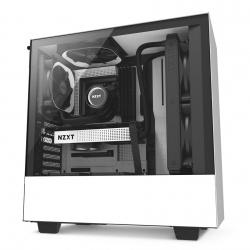 Gabinete NZXT H500 con Ventana, Midi-Tower, ATX/Micro-ATX/Mini-ITX, USB 3.0, sin Fuente, Blanco