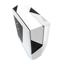 Gabinete NZXT Noctis 450 con Ventana, Midi-Tower, ATX/micro-ATX/mini-iTX, USB 2.0/3.0, sin Fuente, Blanco/Azul