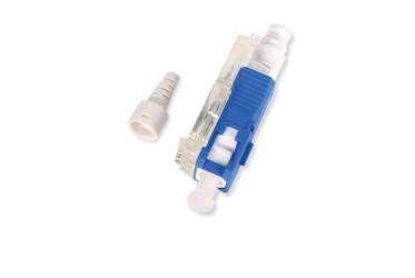 OCC Conector Prepulido Fibra Óptica, SC Macho, Azul/Blanco
