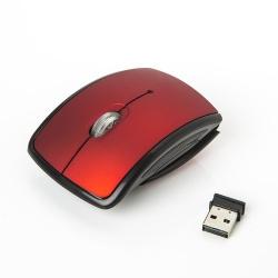 Mouse One Óptico EM-121W, Inalámbrico, USB, 1000DPI, Negro/Rojo
