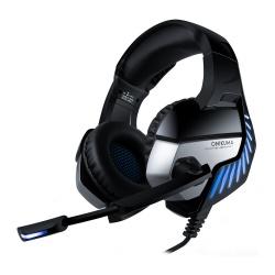Onikuma Audífonos Gamer K5 Pro 7.1, Alámbrico, 2.2 Metros, 3.5mm, Negro/Azul
