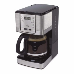 Oster Cafetera BVSTDC4401-013, para 12 Tazas, Semi-Automática, Negro/Plata