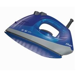 Oster Plancha Vapor Seco, 1200W, 0.18 Litros, Azul/Gris
